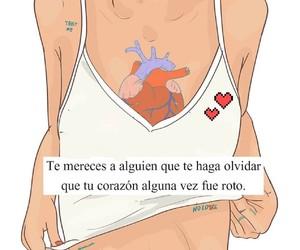 amor, broken heart, and olvidar image