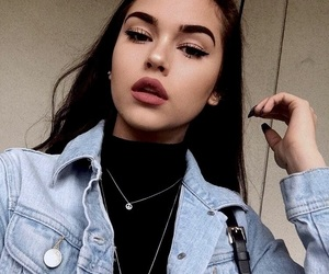 beauty, girl, and repost image