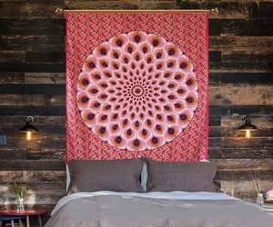 wall hanging, hippie tapestry, and home decor items image