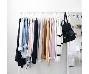 clothes, room, and shirts image