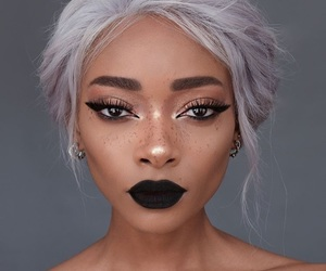 beautiful black woman, pretty girl, and style fashion image
