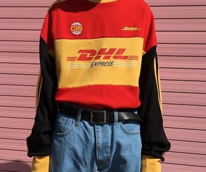 fashion, red, and dhl image