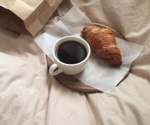 croissant, beige, and breakfast image
