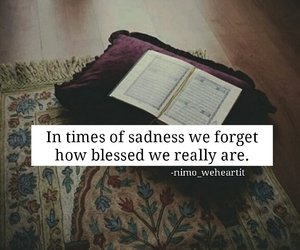 allah, sadness, and thankful image