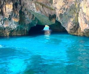 blue, capri, and cave image