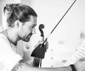 handsome, violin, and smile image