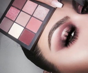 makeup, pink, and eyeshadow image