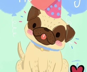 happy birthday and perros image