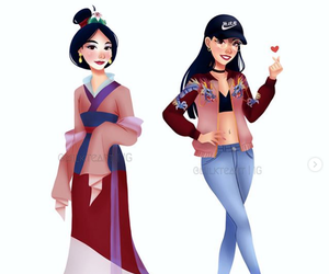 art, disney, and mulan image