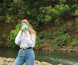 aesthetic, nature, and polariod image