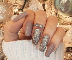 beige, nails, and ring image