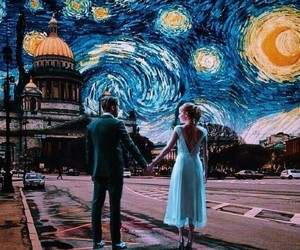 art, van gogh, and la la land image