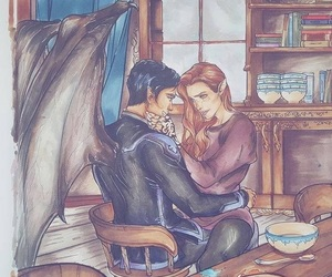 rhys, feyre, and acotar image