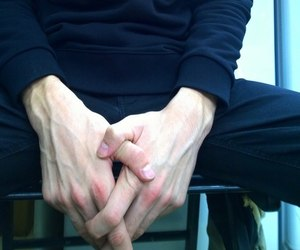 guy, hand, and veins image