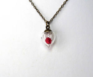 tiny bottle, bronze necklace, and friendship gift image