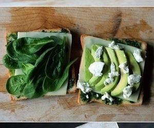 food, sandwich, and avocado image