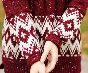 clothes, sweater, and cozy sweaters image