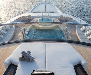 boat, luxury, and rich image