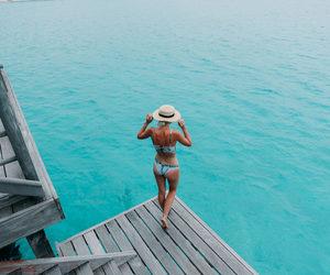 travel, girl, and sea image