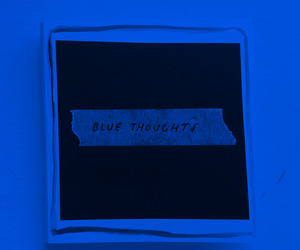 blue and thoughts image