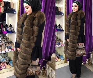 chic, fashion, and hijab image