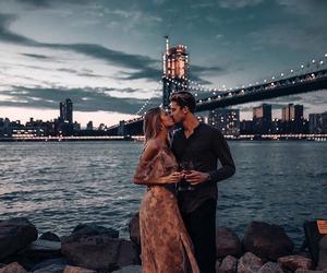 boy, couple, and bridge image