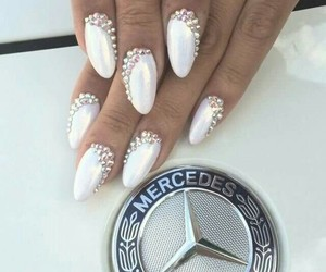 luxury, mercedes benz, and nails image