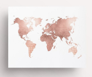 aesthetic, map, and rose gold image