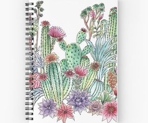 cacti, notebook, and cactus image