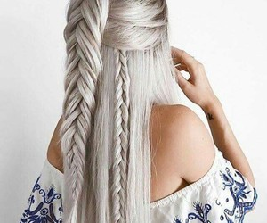 hair, braind, and fashionstyle image