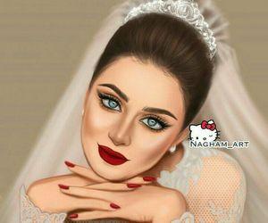 art, bride, and drawing image