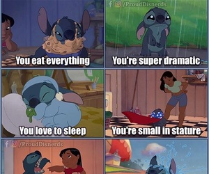 disney, stitch, and funny image