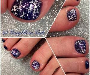 art, nails, and pedicure image
