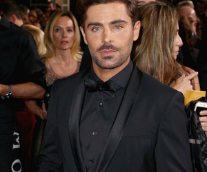 zac efron, golden globes, and handsome image