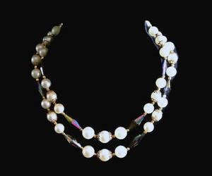 bridal jewelry, wedding necklace, and auroraborealis image