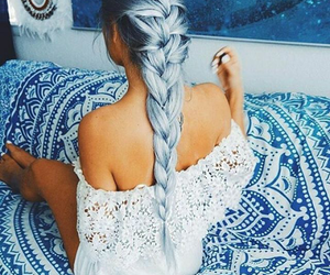 braid, fashion, and hairstyle image