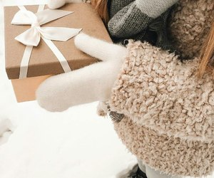 gift, mittens, and winter image