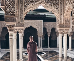 architecture, hijab, and interior image
