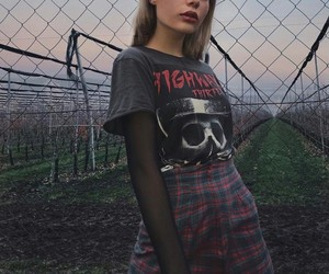 clothes, girl, and dark image