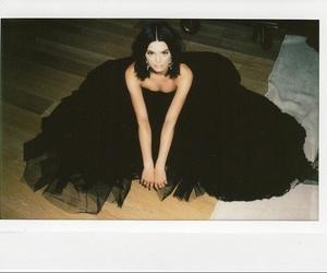black, polariod, and dress image