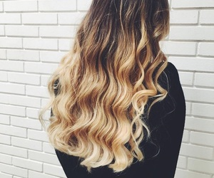 blonde girl, blonde hair, and curly image