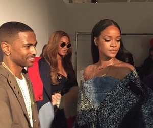 rihanna, beyoncé, and big sean image