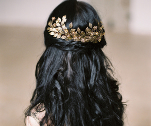 hair, accessories, and gold image