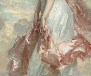 art, pink, and painting image