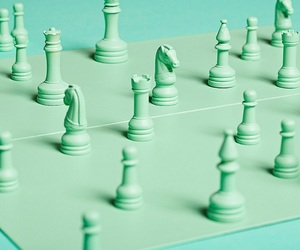 green, aesthetic, and chess image