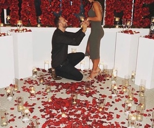 love, couple, and rose image