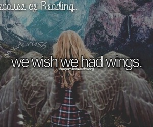 wings and because of reading... image