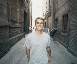 justin, smile, and bieber image