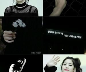 black, dahyun, and white image