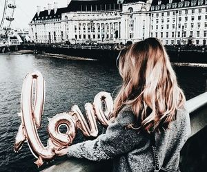 love, girl, and city image